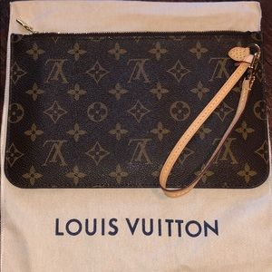Louis Vuitton Monogram Canvas, Neverfull Pouchette